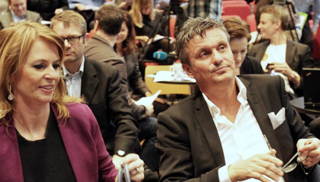 Se og Hør-redaktør Ellen Arnstad og administrerende direktør Roger Hansen i Aller Media på presentasjonen av opplagstallene i februar. Foto: Birgit Dannenberg