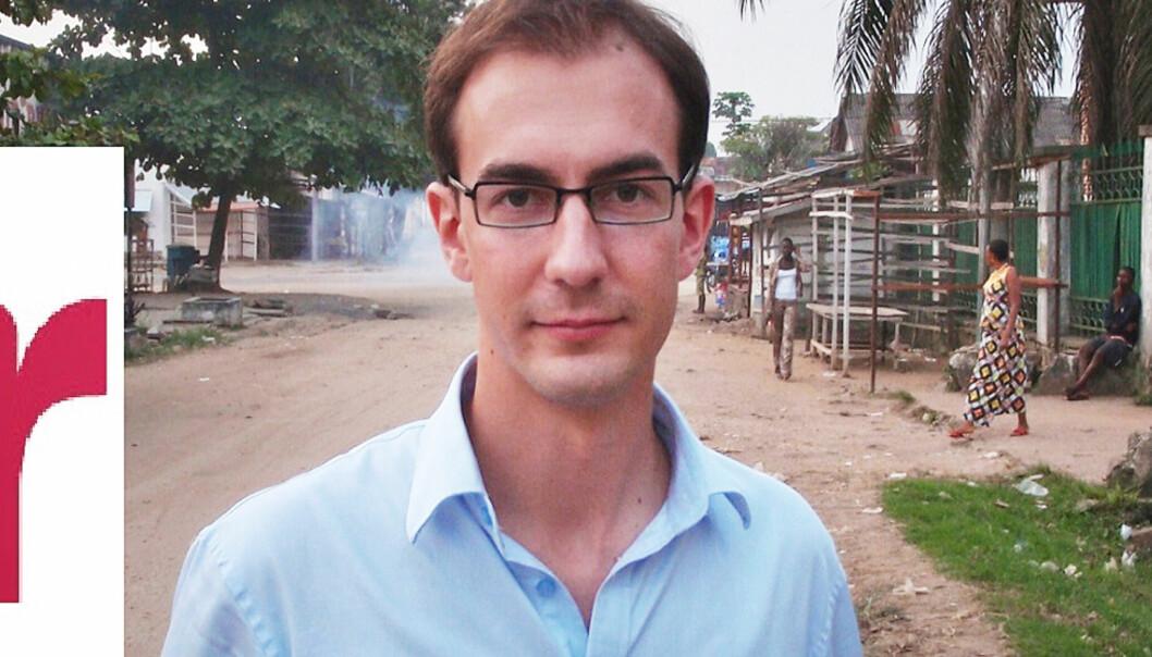 Stian Eisenträger i Internasjonal Reporter. Foto: Adolphe Mbikay