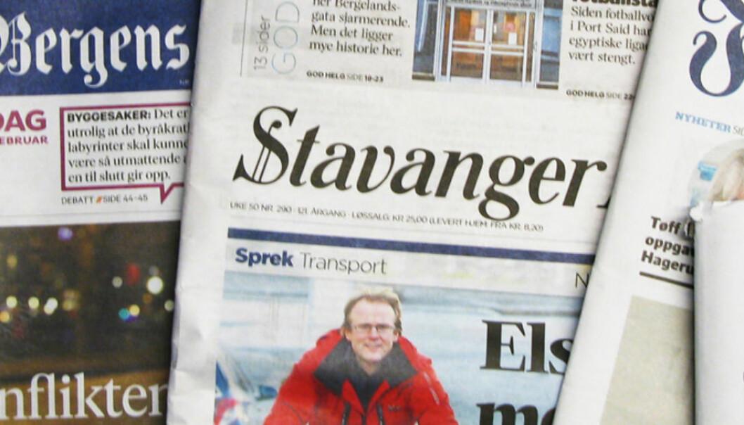 Schibsteds aviser opplever opplagsfall. Foto: Martin Huseby Jensen