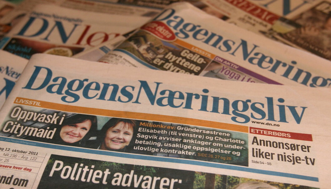 Dagens Næringsliv står for tre av fem omsatte kroner i NHST. Foto: Glenn Slydal Johansen