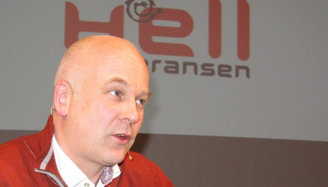 PÅ HELL: NRK-sjef Thor Gjermund Eriksen poengterte viktigheten av norsk innhold, for å lykkes i kampen mot de amerikanske tv-gigantene. Foto: Bjørn Åge Mossin
