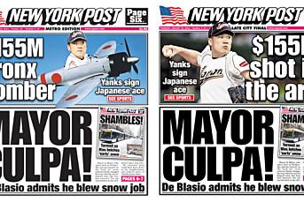 New York Post-forside provoserte