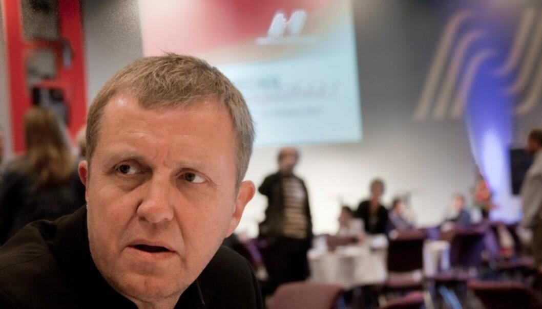 BEKYMRET: Generalsekretær i NJ, Jahn-Arne Olsen, liker ikke medlemsutviklingen. Her på fjorårets NJ-landsmøte. Foto: Kathrine Geard