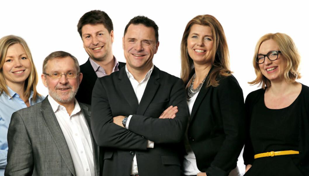 Fra venstre Trine Eilertsen, Harald Stanghelle, Håkon Borud, Espen Egil Hansen, Lillian Vambheim, Saraf Sørheim. (foto Mette Randem)
