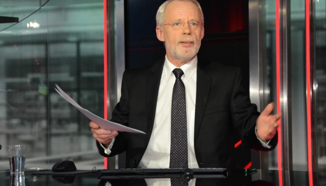 Odd Reidar Solem fra nyhetsstudio i TV 2. Foto: TV 2