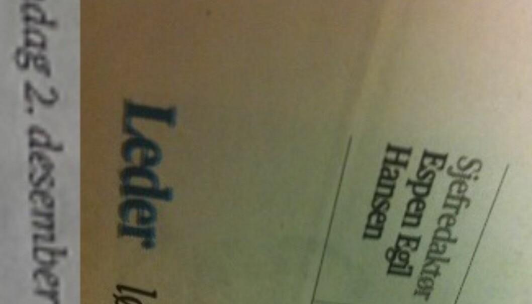 Forrvirrende om hvem som er sjef i Aftenposten.