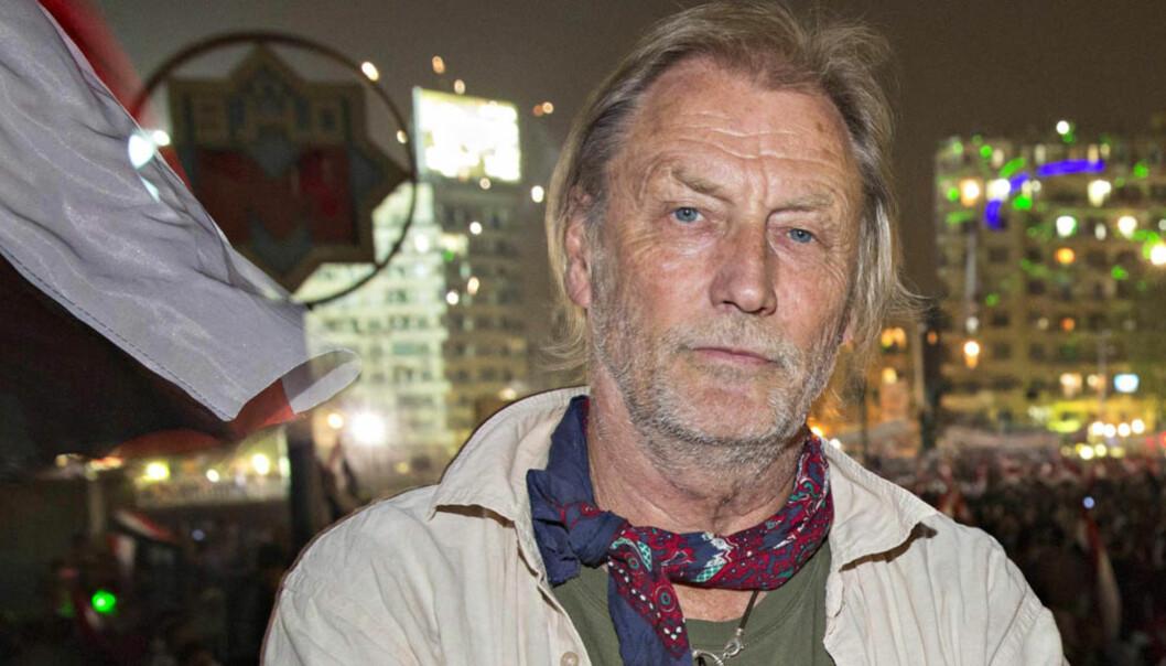 VGs utenriksjournalist Jon Magnus på Tahrir-plassen i Kairo. Foto: VG