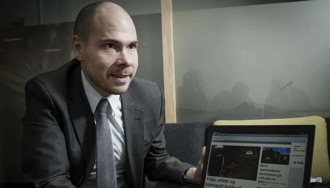 MURMOTSTANDER: Anders Opdahl, ansvarlig redaktør i Nordlys, vil heller ha VG+-modell enn betalingsmur. Foto: Lars Åke Andersen