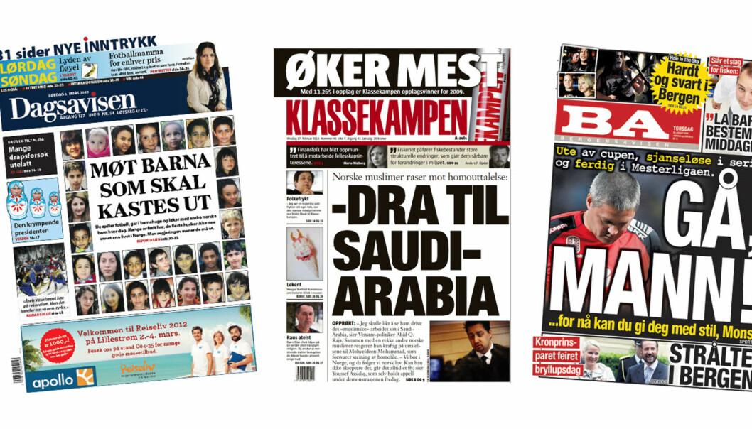 Dagsavisen, Klassekampen og Bergensavisen er blant avisene som mottar mest i pressestøtte.