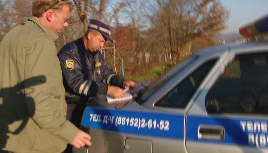 TV 2s team anholdt av russisk politi. Foto: Aage Aune/ Tv 2