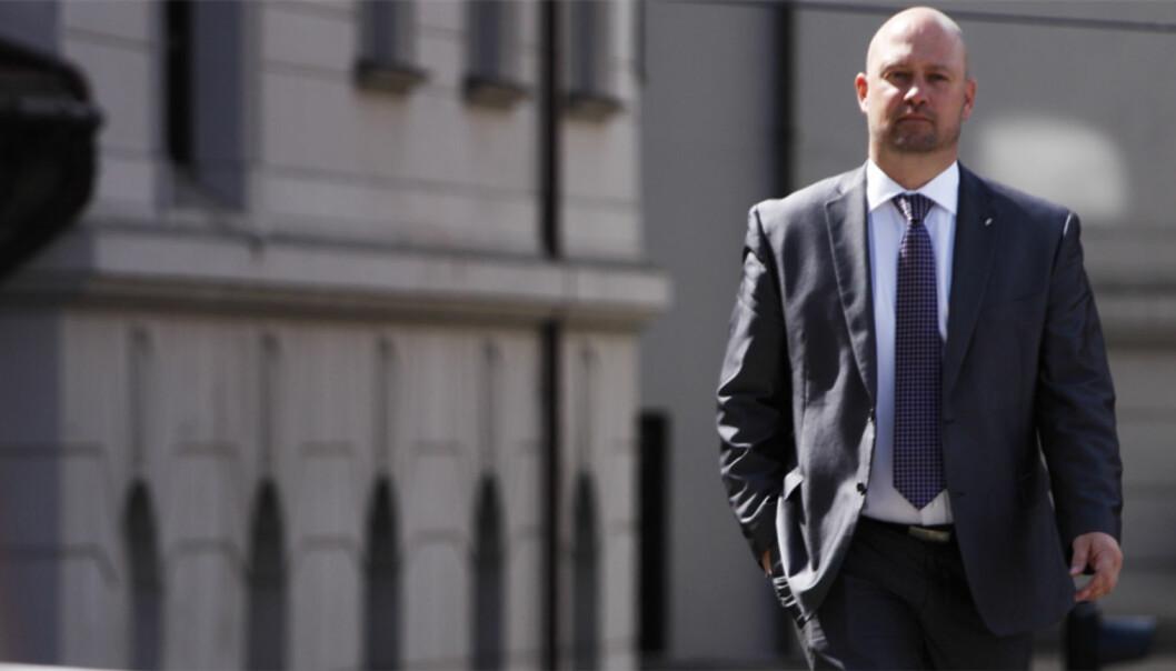 Justisminister Anders Anundsens boikott av Tønsbergs Blad var brudd på boikottloven. Foto: Børge Sandnes/FrP Media