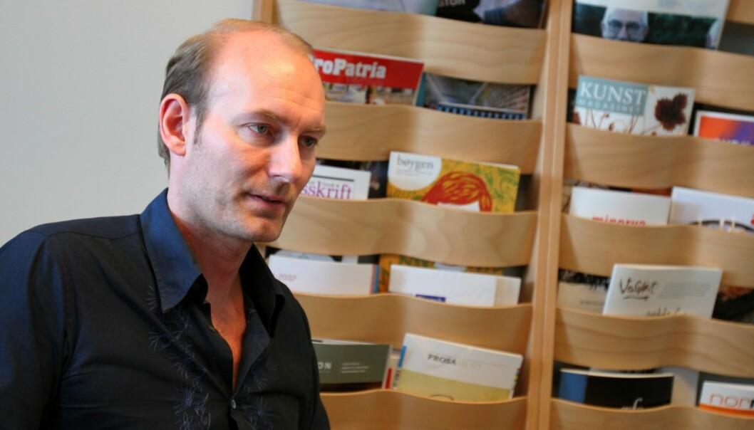 Fritt Ord-leder Knut Olav Åmås har delt ut 5,15 millioner kroner til journalistikk. Foto: Birgit Dannenberg.