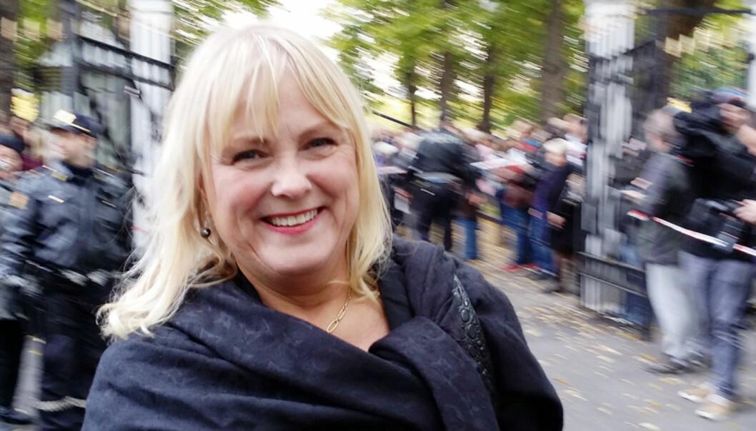 OVERTAR: Kulturminister Torhild Widvey er nå ansvarlig for den norske mediepolitikken. Foto: Bjørn Åge Mossin
