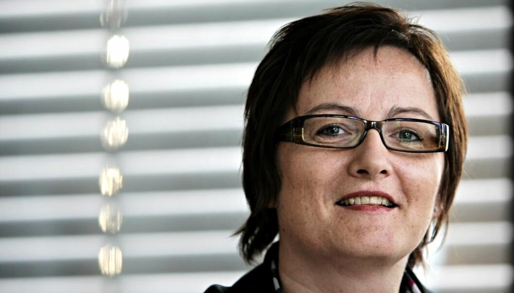 ENSOM: Tove Nedreberg er en av svært få kvinner i mediekonsernenes ledelser. Foto: Terje Visnes, Adresseavisen