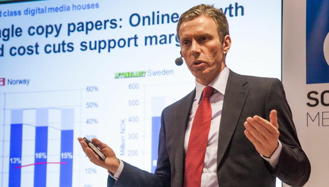 SCHIBSTED: Administrerende direktør Rolv Erik Ryssdal får med seg Telenor på rubrikksatsing i fremvoksende markeder. Foto:Kathrine Geard