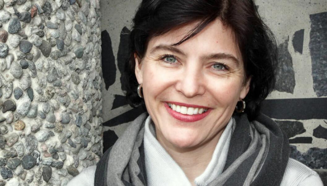Generalsekretær Kjersti Løken Stavrum mener journalister settes i en skvis når de skal intervjue sjefen om lesertallene uten å få stille de kritiske spørsmålene. Foto: Birgit Dannenberg