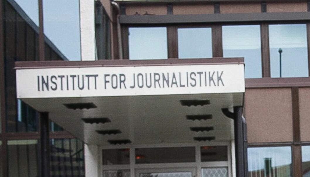 Institutt for Journalistikks bygg i Fredrikstad er nå solgt. Foto:Kathrine Geard