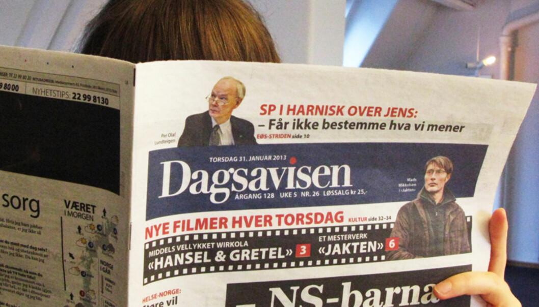 Frps Ib Thomsen mener Dagsavisen burde skjelve i buksene. Skremselspropaganda fra et regjeringsparti, mener klubbleder. foto: Martin Huseby Jensen