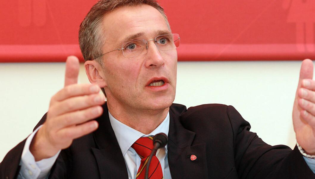 DOBBELTBETYDNING: Statsminister Jens Stoltenberg snakker mye om fordeling – som noen nødvendigvis må bli forfordelt av. I den ene eller andre retningen. Foto: Arbeiderpartiet/Flickr.com