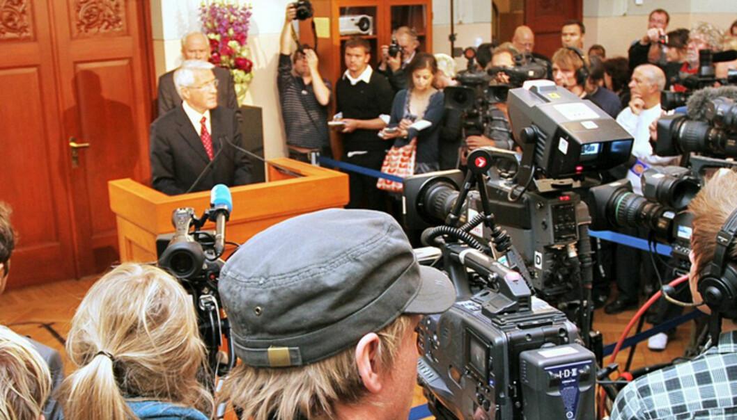 Torbjørn Jagland mener norsk presse har sluppet til Fjordman for lett og vært for lite kritiske mot tildelingen av Fritt Ord-støtte. Foto: Martin Huseby Jensen