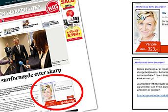 Aftenposten gjeninnfører omdiskutert annonseformat