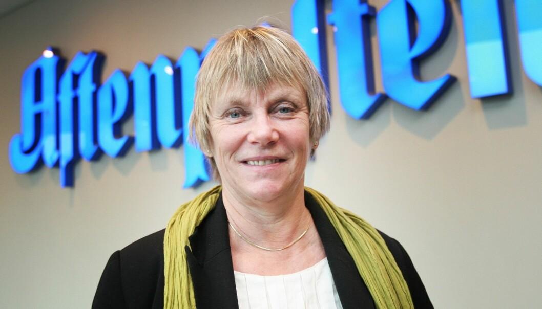 ANMELDT: Ansvarlig redaktør Hilde Haugsgjerd og Aftenposten. Foto: Birgit Danneberg