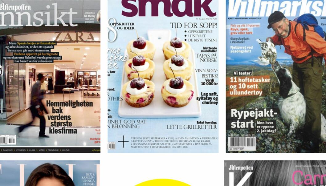 Noen av bladene som kan bli årets magasin. Foto: MBL
