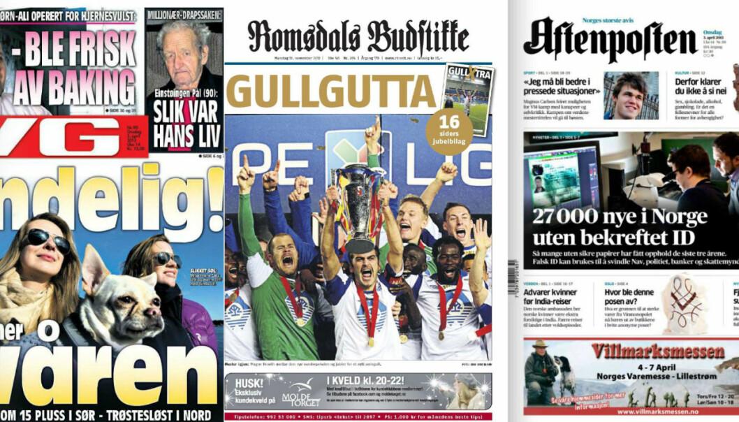NOMINERTE: En av disse blir Årets avis 2012.