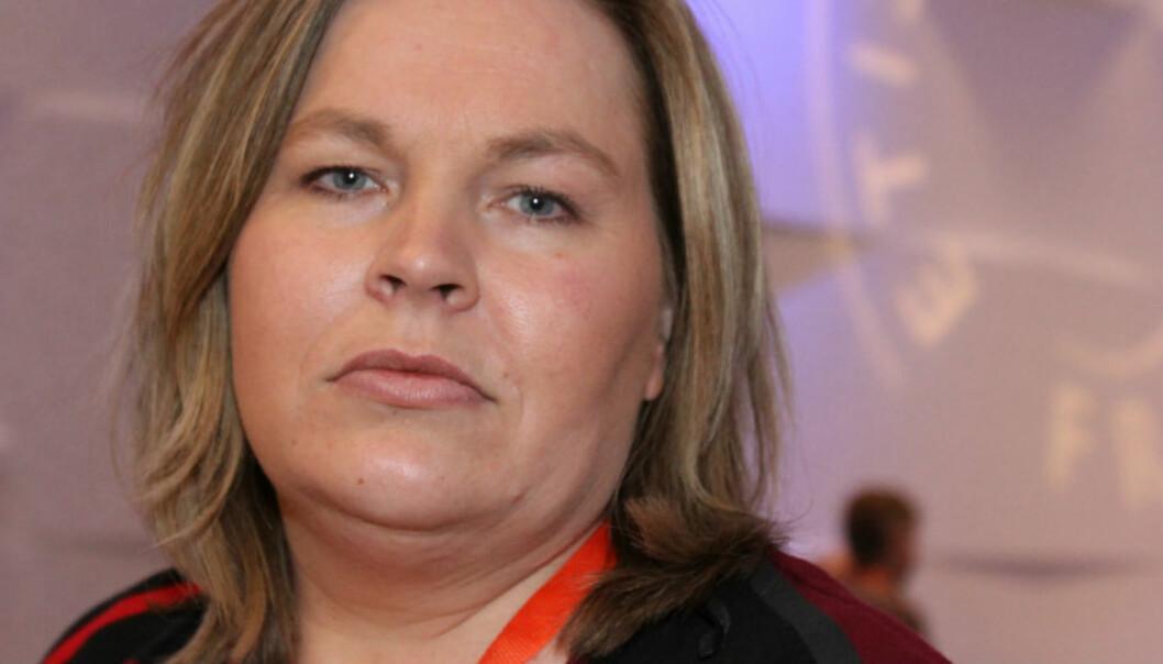 Avtroppende NJ-leder Elin Floberghagen. Foto: Birgit Dannenberg
