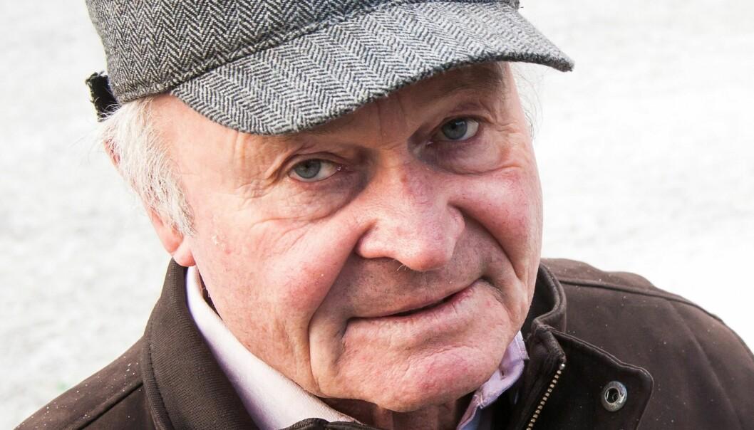 COMBACK-KID: Pensjonert journalist Alf G. Andersen er oevrveldet over at sakene om norsk bistand han og kollega Einar Kr. Holtet skrev i 1981 nå er publisert i Aftenposten. Foto:Kathrine Geard