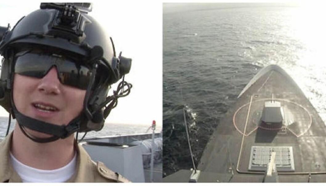 Dagbladets nett-tv startet mandag en serie om livet om bord på fregatten Thor Heyerdahl. Skjermdump fra db.no