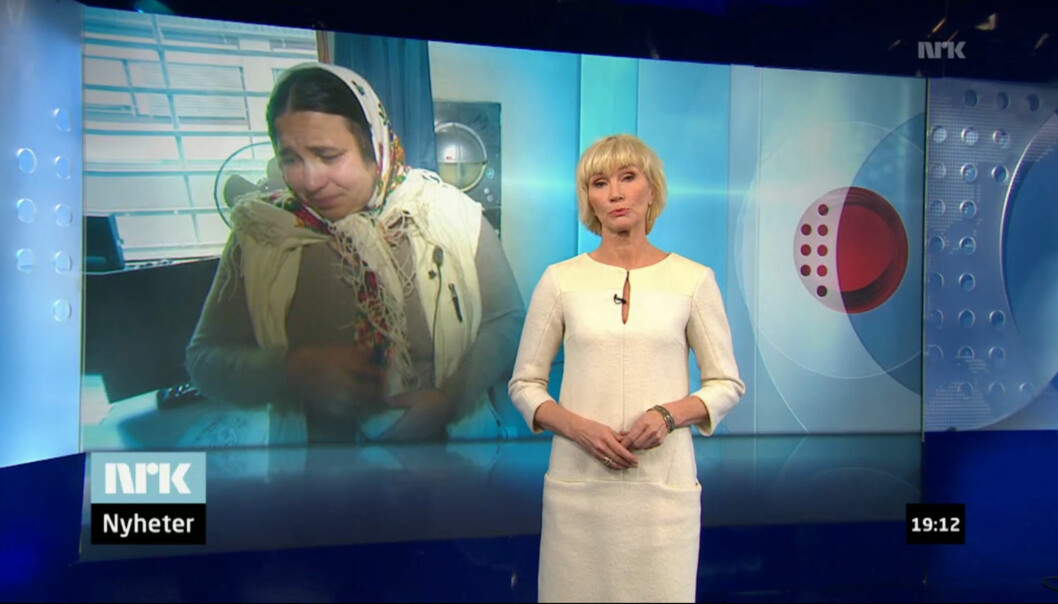 Reportasjen som vekker sterk kritikk ble sendt lørdag 12. januar og sett av 870.000 TV-seere. Skjermdump fra NRKs Nett-TV