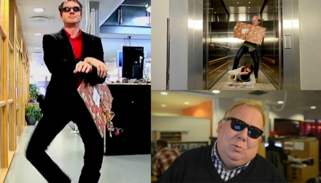 Drammens Tidende har kastet seg på Gangnam Style-bølgen. Foto: Drammens Tidende