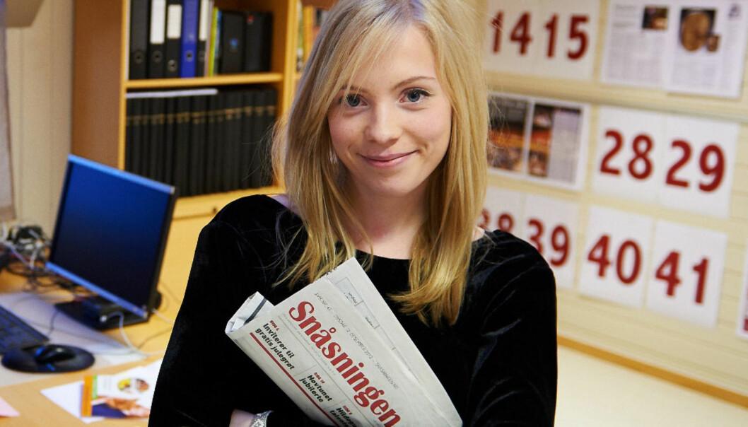 Torun Støbakk blir ny redaktør i lokalavisa Snåsningen på Snåsa. Foto: Johan Arnt Nesgård/Trønder-Avisa