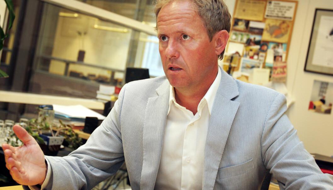 Sjefredaktør og administrerende direktør Pål Bjerketvedt i NTB må kutte 10 millioner kroner, men beholder trolig Schibsted som kunde. Foto: Birgit Dannenberg