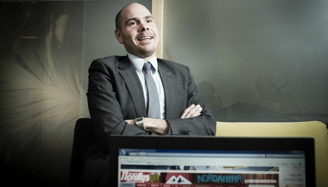 Redaktør Anders Opdahl i Nordlys er fornøyd med den målrettede satsingen på avisas nettutgave. Foto: Lars Åke Andersen