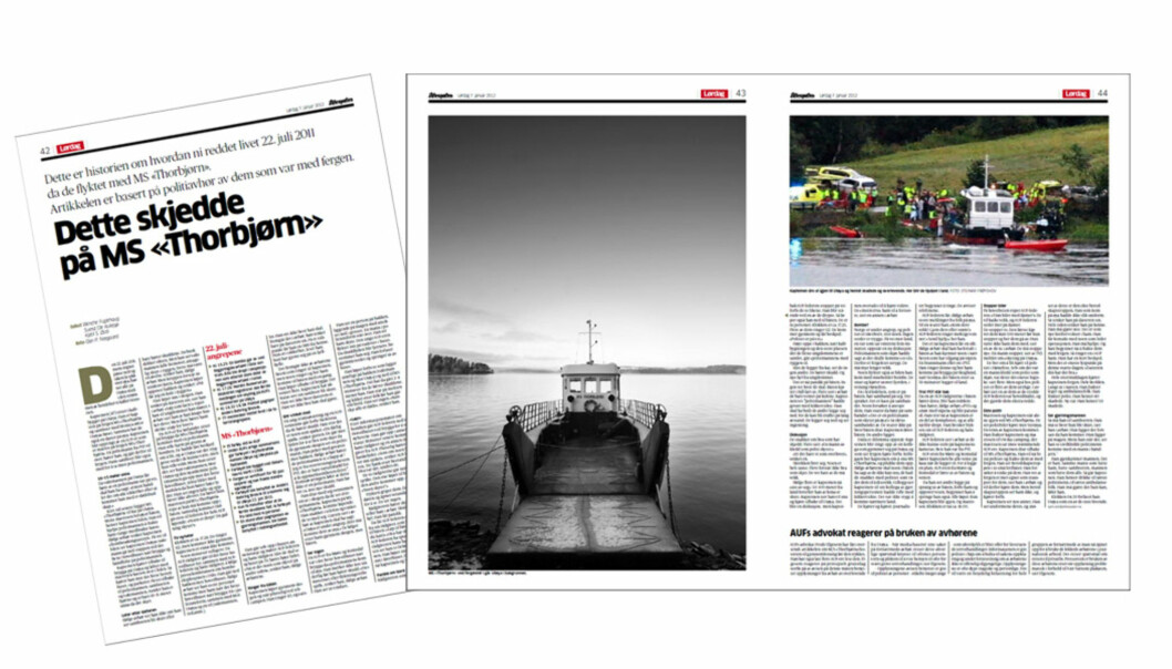 Faksimile Aftenposten 7. januar 2012.