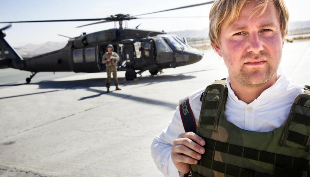 VG-journalist Rune Thomas Ege i Afghanistan. Foto: Privat
