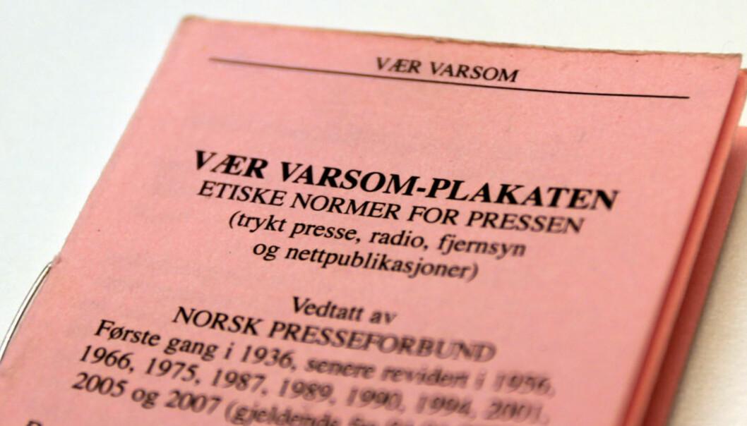 Vær Varsom-plakaten. Illustrasjonsfoto: Glenn Slydal Johansen