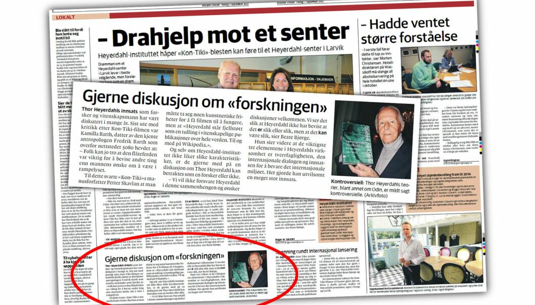 Faksimile Østlands-Posten 7. september 2012