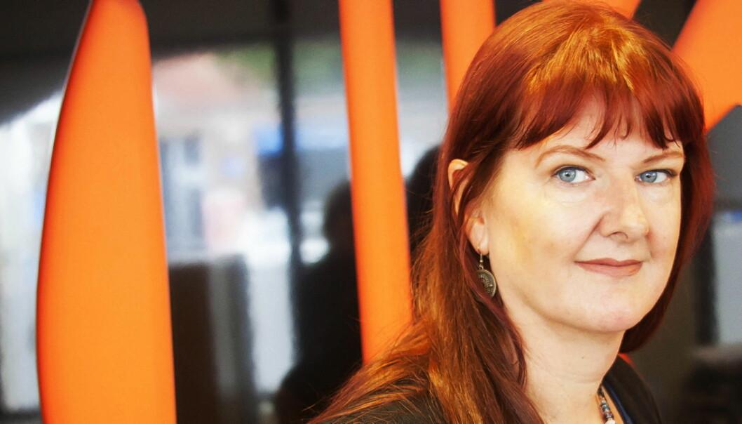 KARRIERESKIFTE: – Jeg stortrives med kollegene mine i Gjengangeren, sier pensjonert forfatter Trude Brænne Larssen. Foto: Kathrine Geard