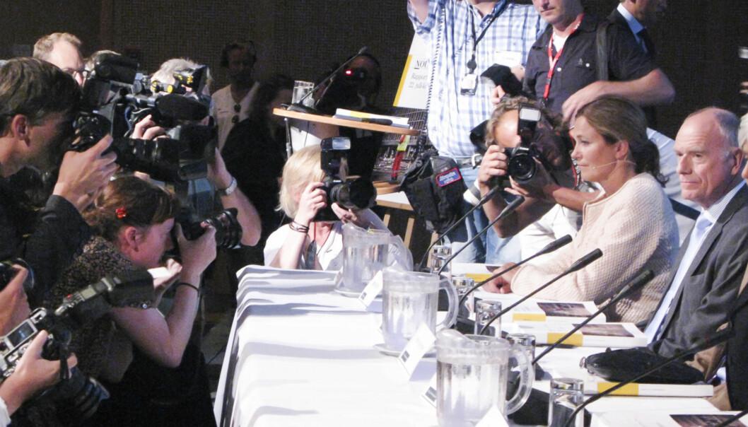 22.julikommisjonen og  leder Alexandra Bech Gjørv legger fram sin rapport. Foto: Kathrine Geard