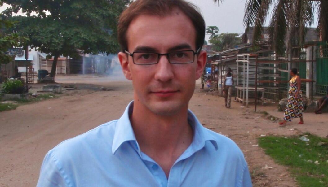 Stian Eisenträger i Kisangani, Kongo, desember 2009. Foto: Adolphe Mbikay