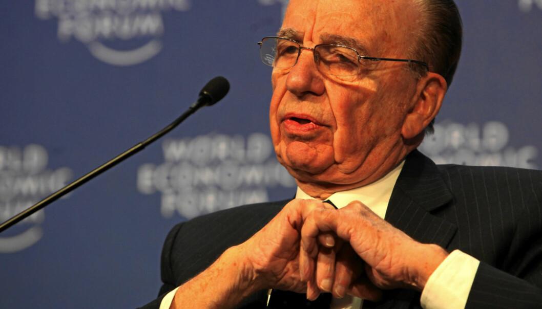 Det er ingen bønn for Rupert Murdoch som stadig møter motstand og mistro. Foto: World Economic Forum/Monika Flueckiger