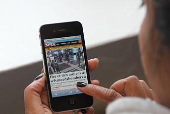 VG mobil hadde over 12 millioner sidevisninger i snitt lørdag og søndag. Det er 4 millioner flere enn helgen før