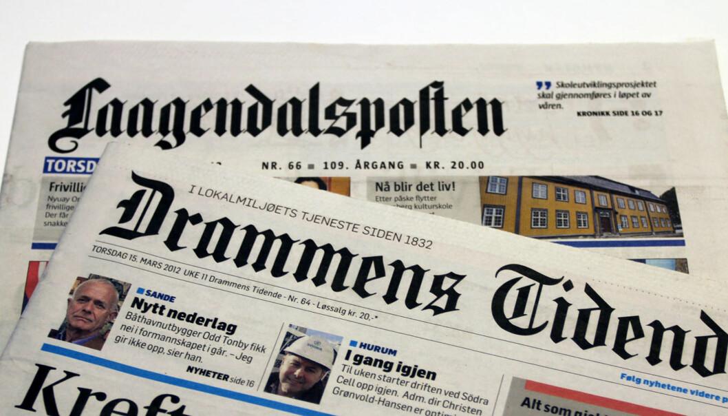 Edda Media Buskerud AS består av Laagendalsposten og Drammens Tidende. Illustrasjonsfoto: Glenn Slydal Johansen