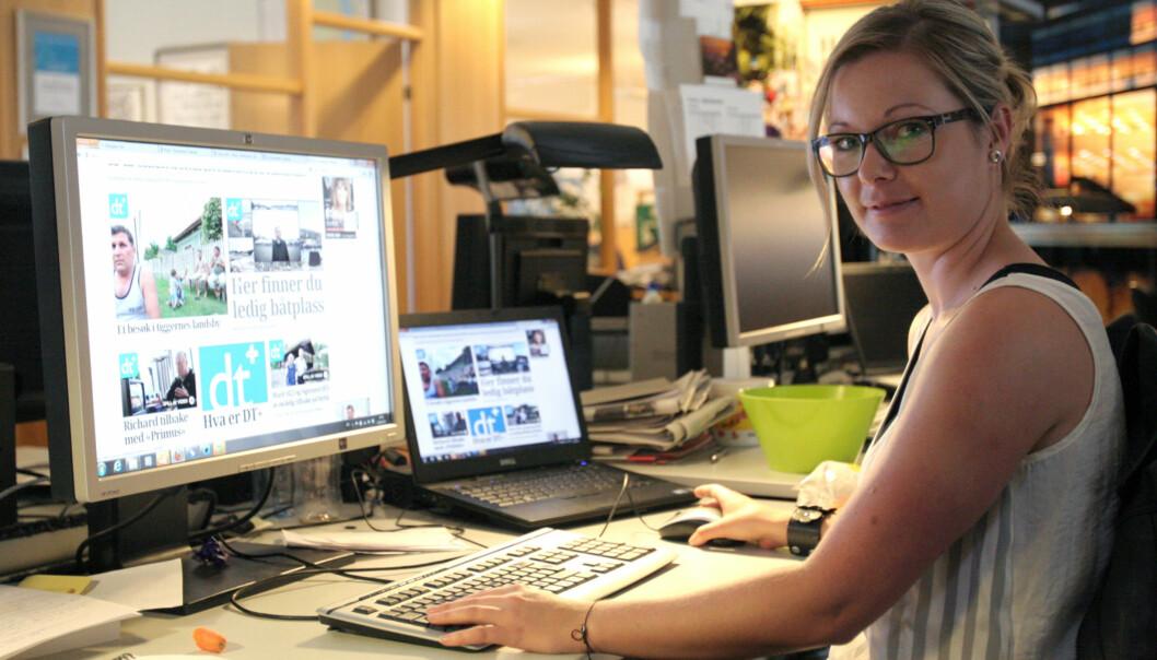 Prosjektleder Siw Myhre har ansvaret for pluss-satsingen til Drammens Tidende. Foto: Glenn Slydal Johansen