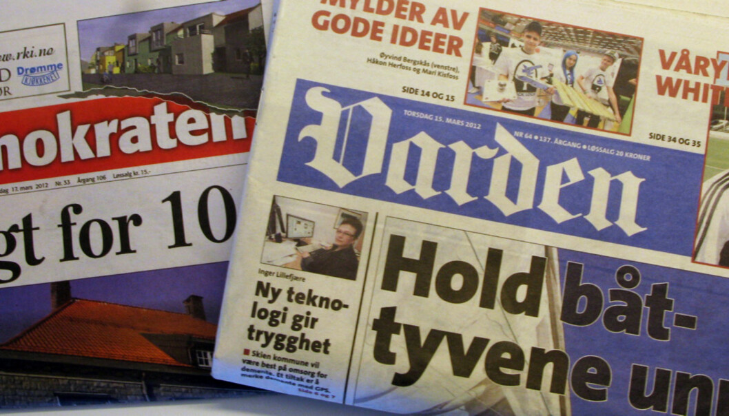 A-pressen legger Demokraten og Varden ut for salg for å få oppkjøpet av Edda Media godkjent av Konkurransetilsynet. Foto: Martin Huseby Jensen