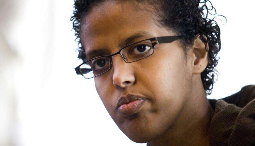 Amal Aden er et av navnene som innstilles til nytt varamedlem i PFU. Foto: www.aschehoug.no