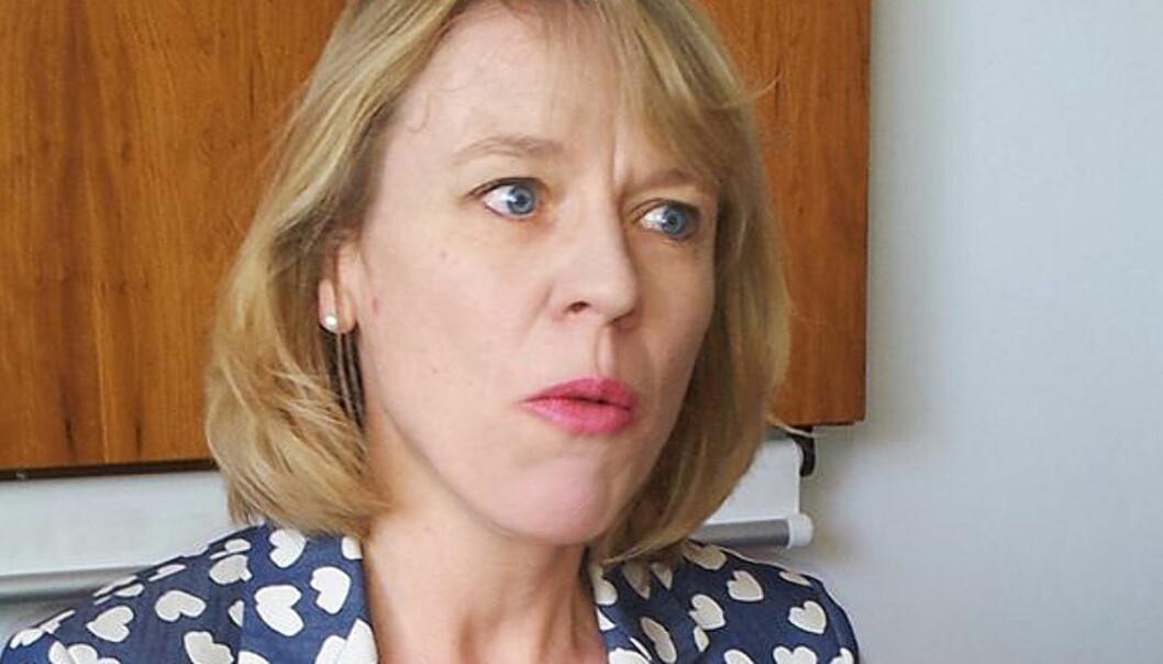 Kulturminister Anniken Huitfeldt viser til at mediebransjen mener nullmoms for papiraviser er viktigst. Foto: Bjørn Åge Mossin